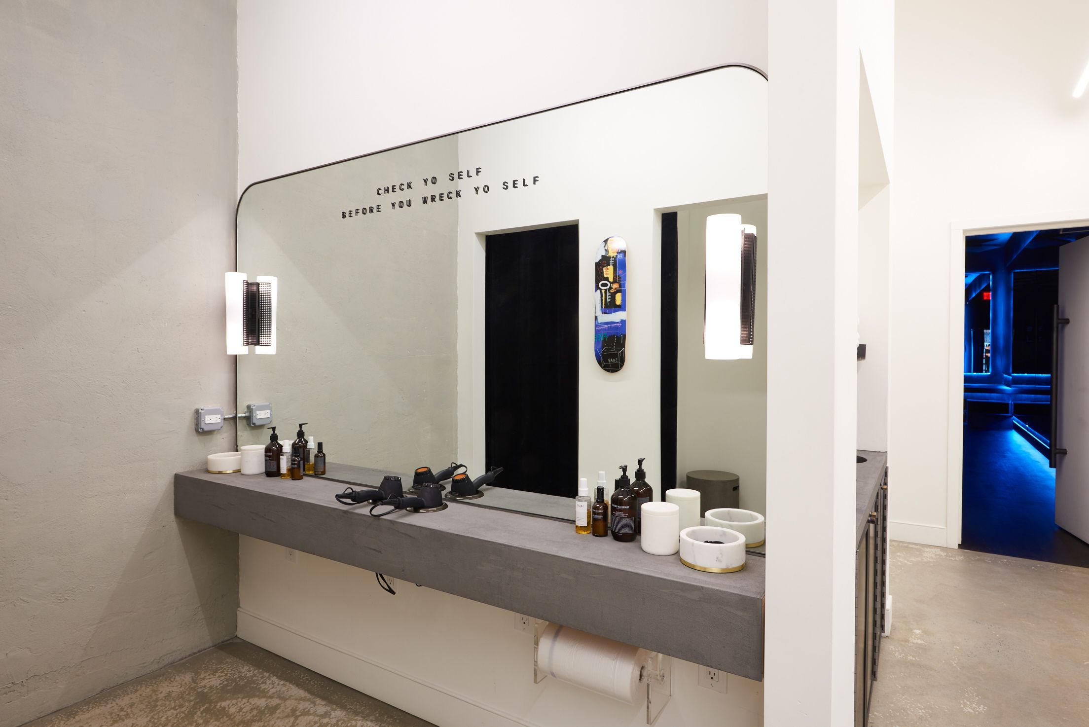 Custom Mirror And Blackened Steel Mirror With Kelly Wearstler
