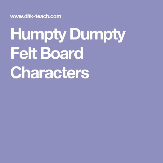 Humpty Dumpty Felt Board Characters