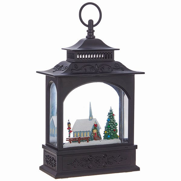 Black Lighted Church Water Lantern #churchitems