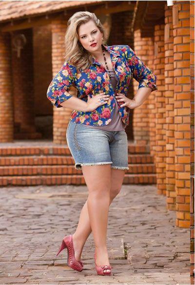 looks plus size com shorts - Pesquisa Google | Plus Size Outfits ...