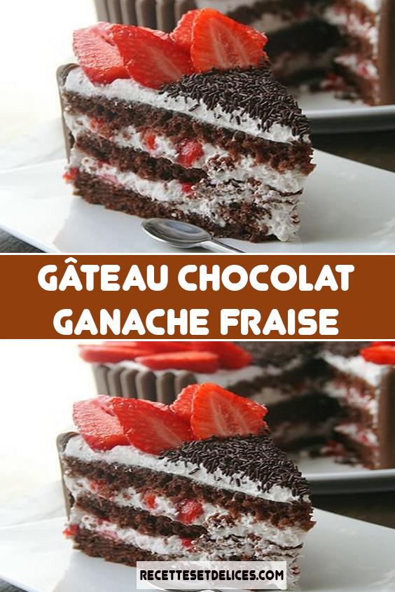 Recette Gateau Au Chocolat Fraises Chantilly Sur Chefclub Original Recette Chocolat Recette Dessert Chocolat Recette Dessert