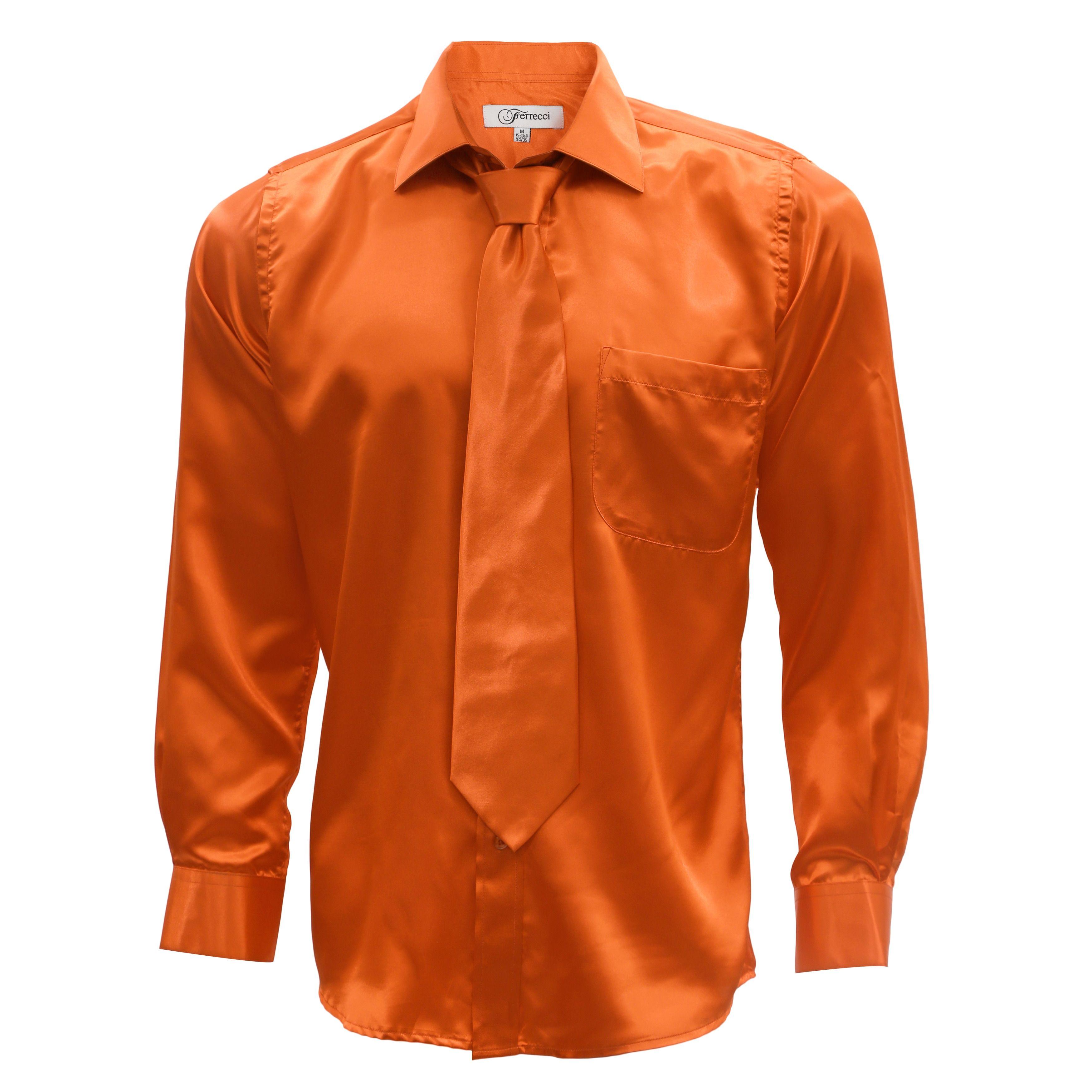 1e55a6f82b434e Ferrecci Men s Satin Dress Shirt