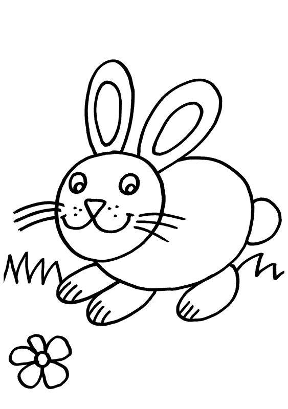 Картинка раскраска заяц без ушей