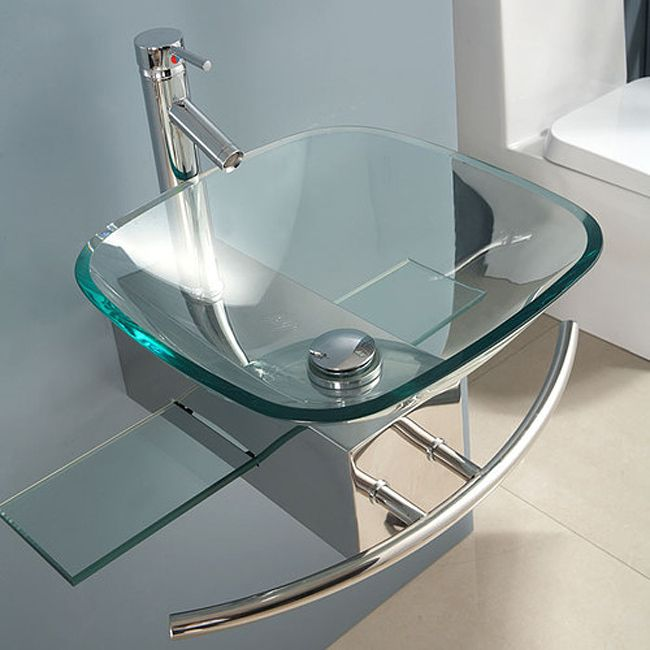 Charming Contemporary Wall Mount Glass Waterfall Sink   Overstock Shopping   Great  Deals On KILIV Bathroom