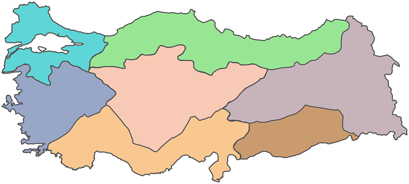 Turkiye Bolgeler Haritasi 2 Png Haritalar Harita Cografya