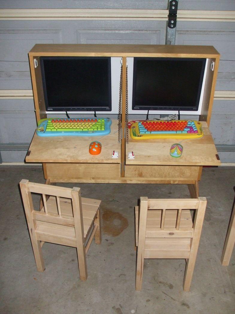 Ikea Hackers Kids Shoebox Dual Computer Cabinet