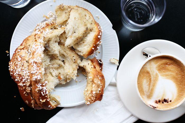 cappuccino + cardamom bun http://trendi.fi/blogi/sara-k