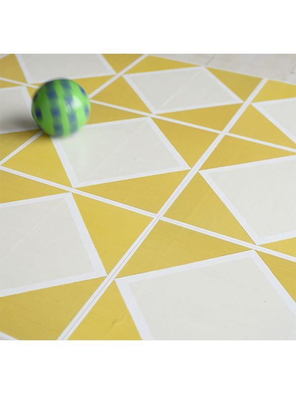 Julie S Flooradorn Yellow Diamond Super Easy To Install