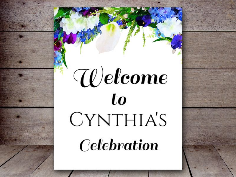 editable welcome sign, wedding welcome sign, bridal shower decoration signs, baby shower, floral Signs 8×10 – Printabell • Wedding