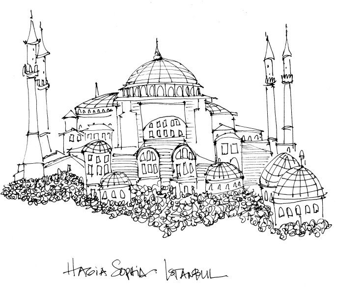 Istanbul Google Search Hagia Sophia Travel Sketches