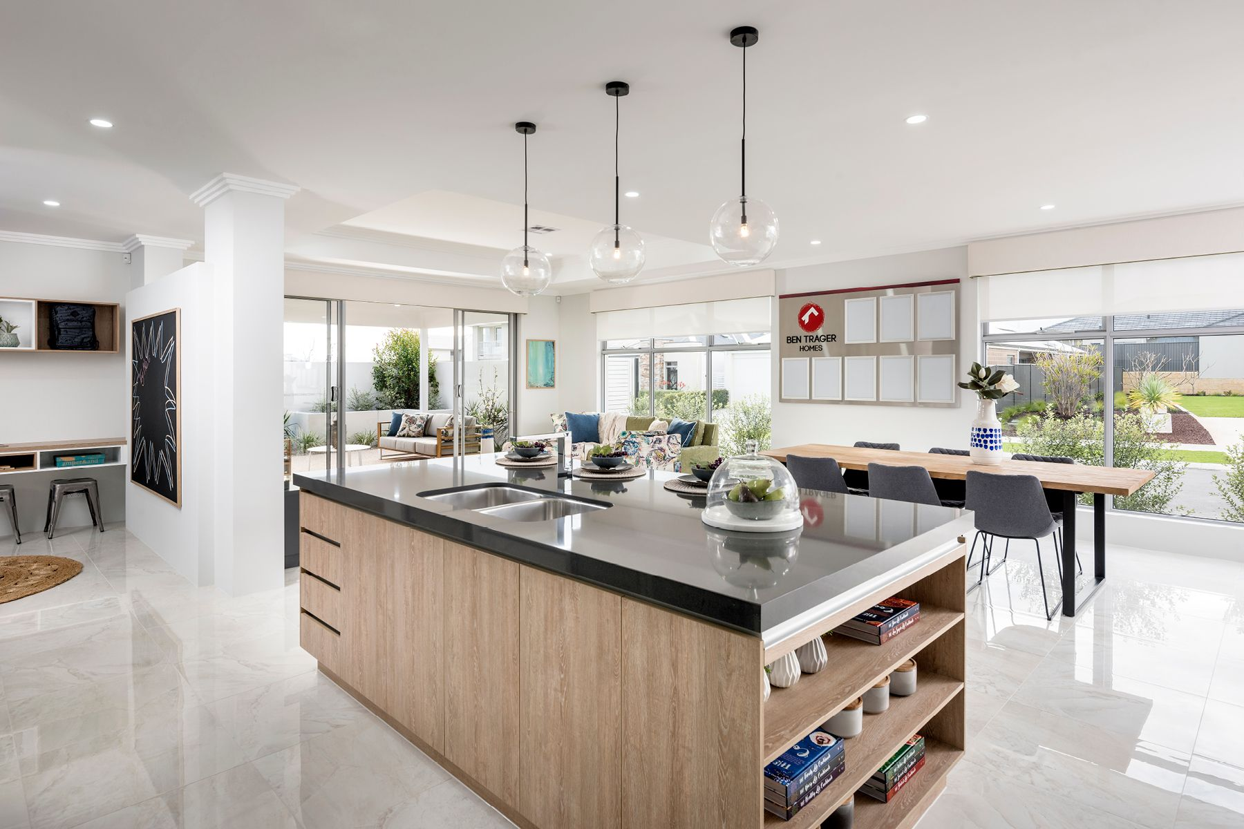 Stunning open plan kitchens © Ben Trager Homes | On display in Perth ...