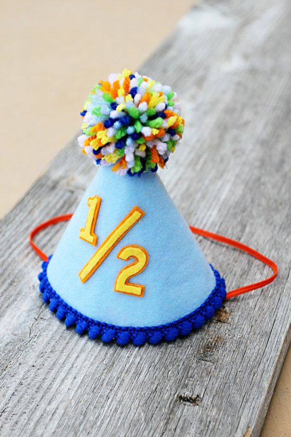 Boys Half Birthday Small Party Hat 1 2 By LaLaLolaShop