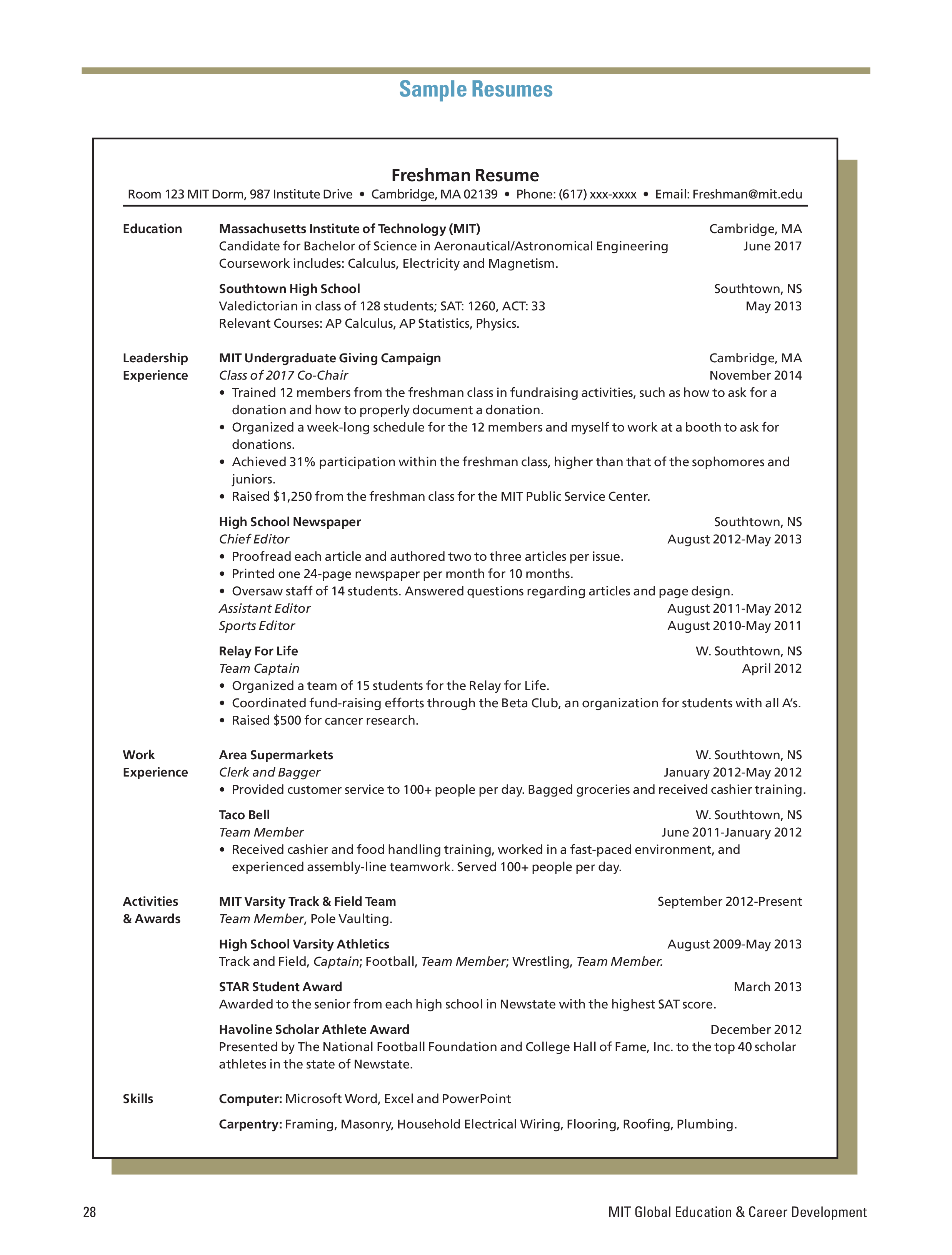 Sample Computer Engineering Resume How to draft a