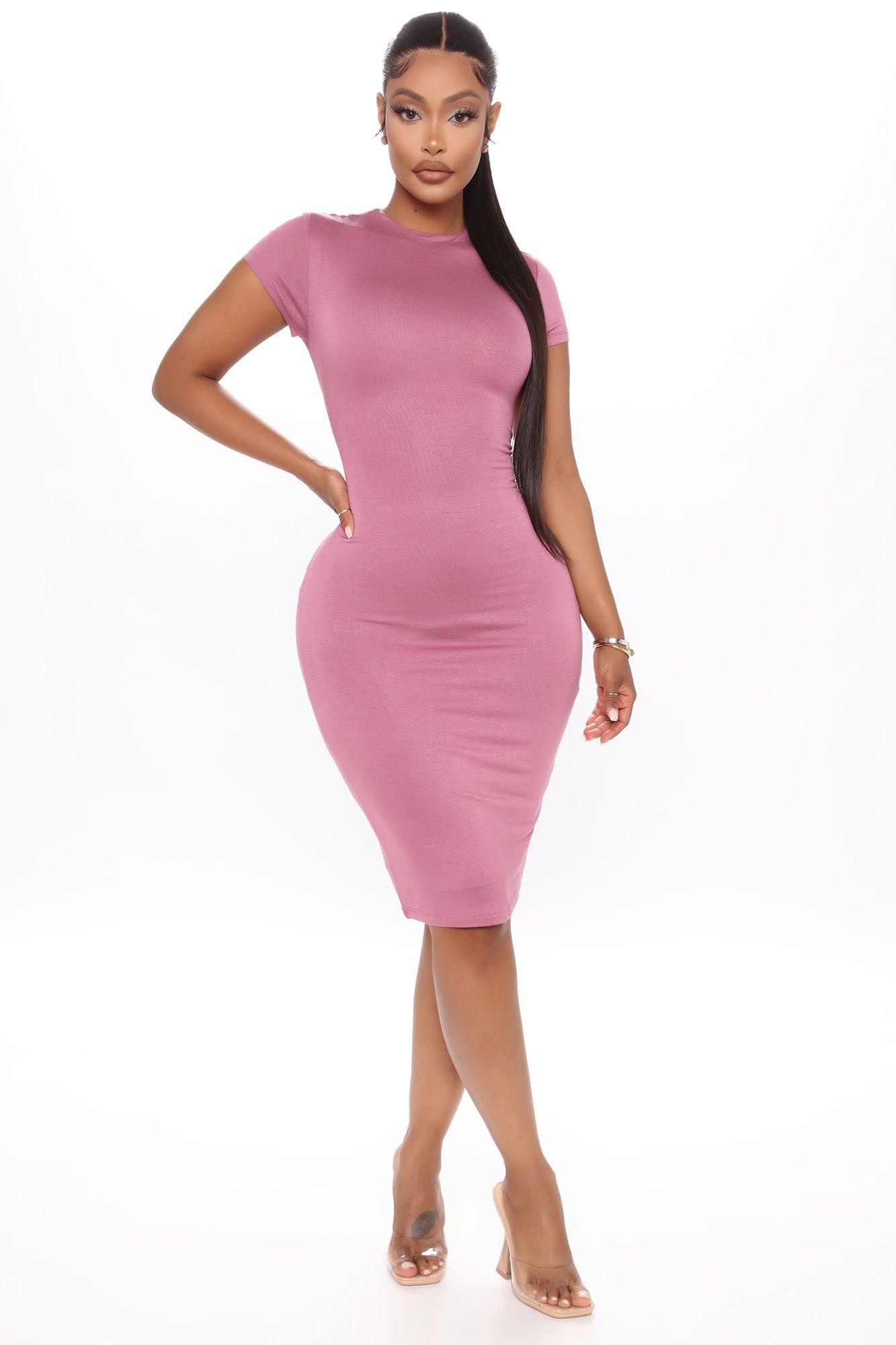 Sierra Bodycon Midi Dress Rose in 2021 Midi dress