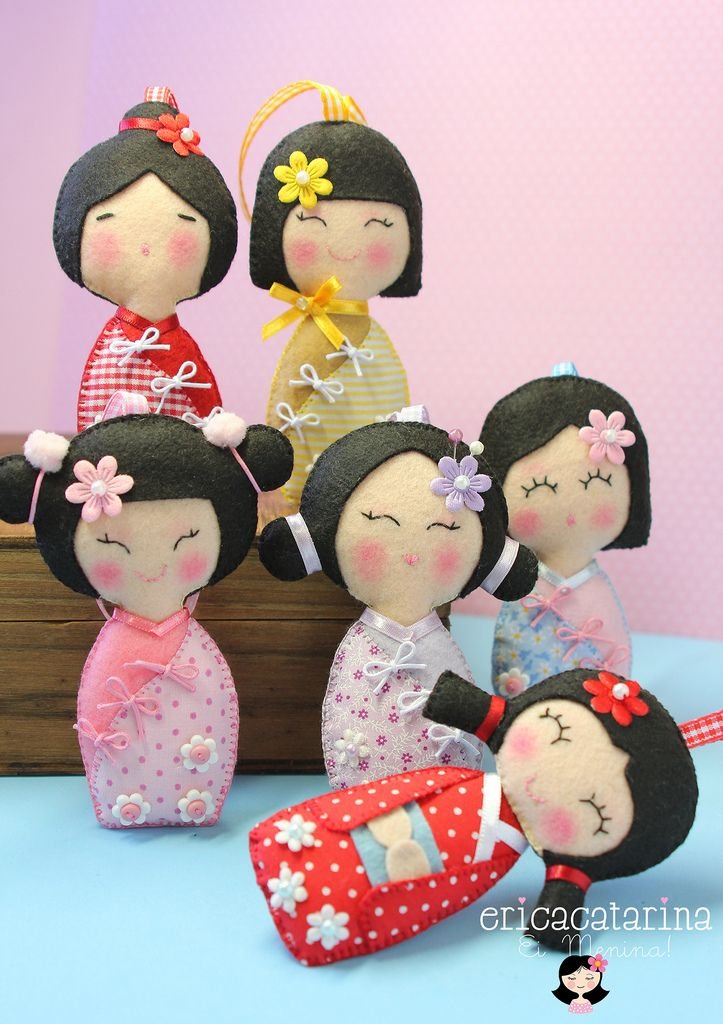 Adesivo De Parede Infantil Nuvem ~ Ei Menina! boneca japonesa Kokeshi Pinterest Boneca