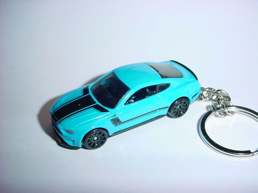 3d Blue Ford Mustang Gt Custom Keychain Key Keyring 2018 Race