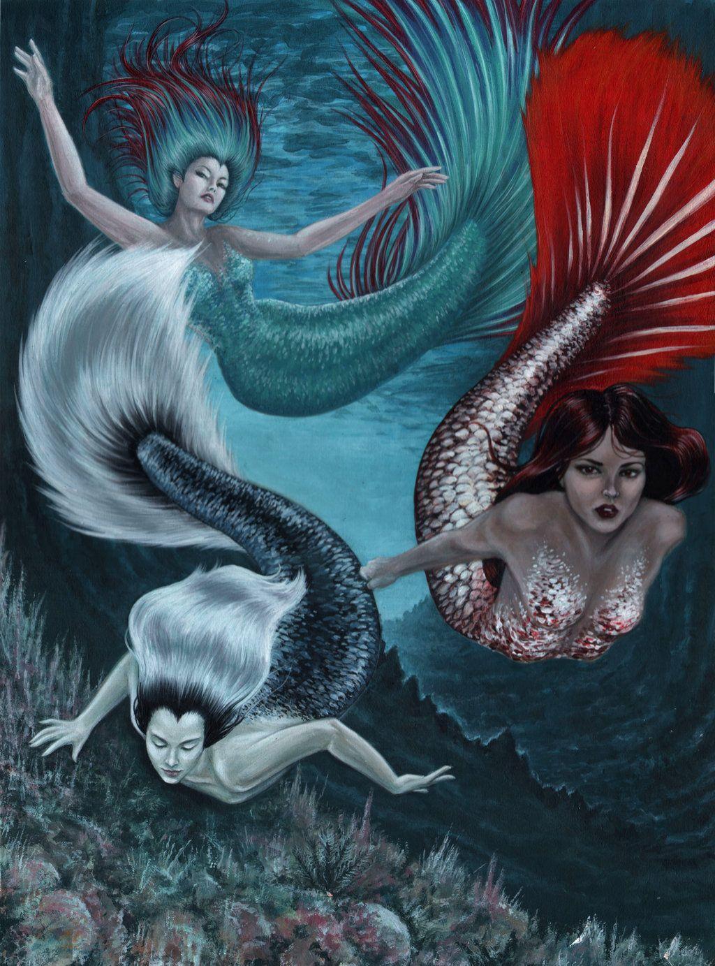 Миф и картинки русалок