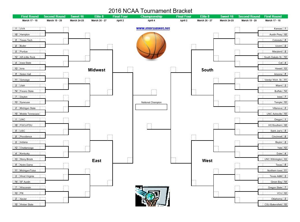 Complete  Ncaa Tournament Bracket  Ncaa Brackets