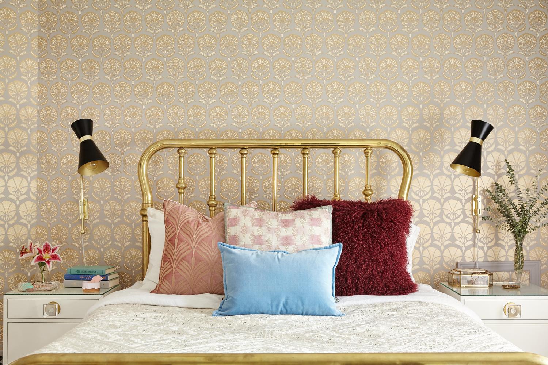 Best Michelle Gage Vintage Boudoir Brass Bed Room Wall 400 x 300