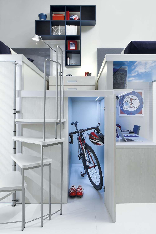 Loft teenage bedroom tiramolla 909 tiramolla collection by for Bureau adolescent