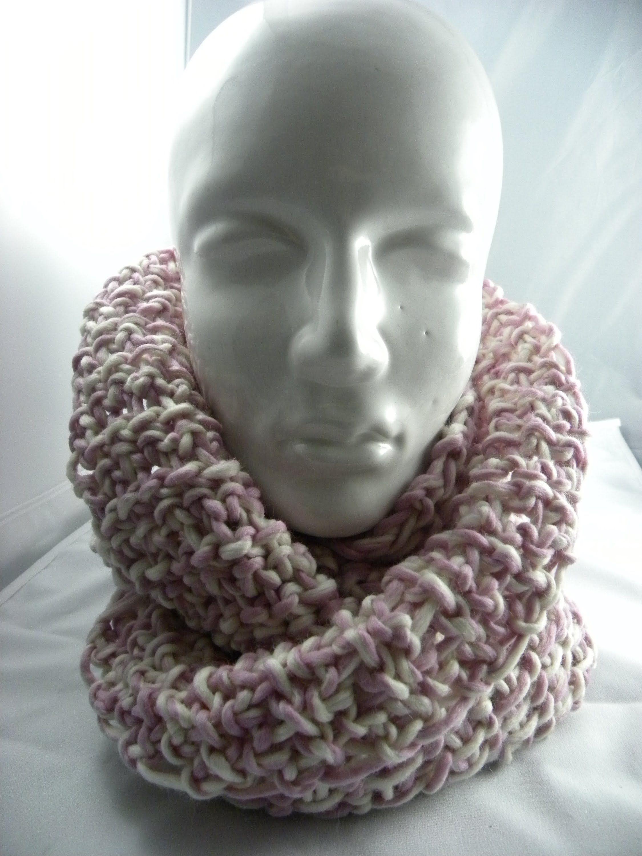Tunesisch Häkeln - Loop oder Schal aus Schoppel-Wolle \