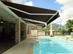 Retractable Shade Over Pool Google Search Retractable Shade Outdoor Living Deck Pool Shade