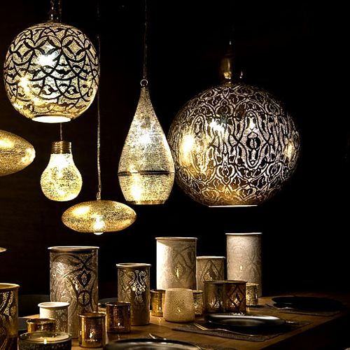 Lamparas de inspiracion arabe lamps of arabic - Lamparas estilo barroco ...