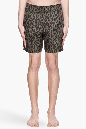 8e4a188c8d Stussy Olive And Black Leopard Print Wildlife Swim Shorts for men | SSENSE  Posted to the Stufflicious.com community storefront by kim9103.