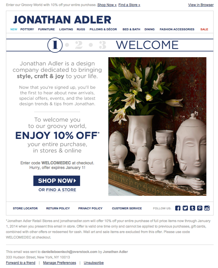Sign in emails, Design company