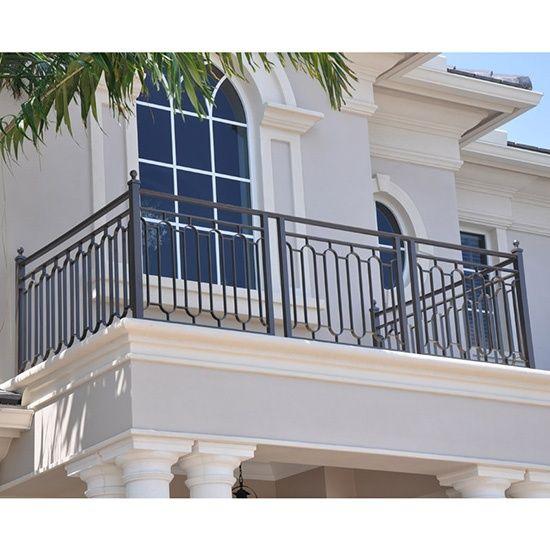 Outdoor Simple Villa Wrought Iron Balcony Railing | Iron ...