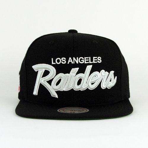 Los Angeles Raiders Snapback Mitchell And Ness Green Under