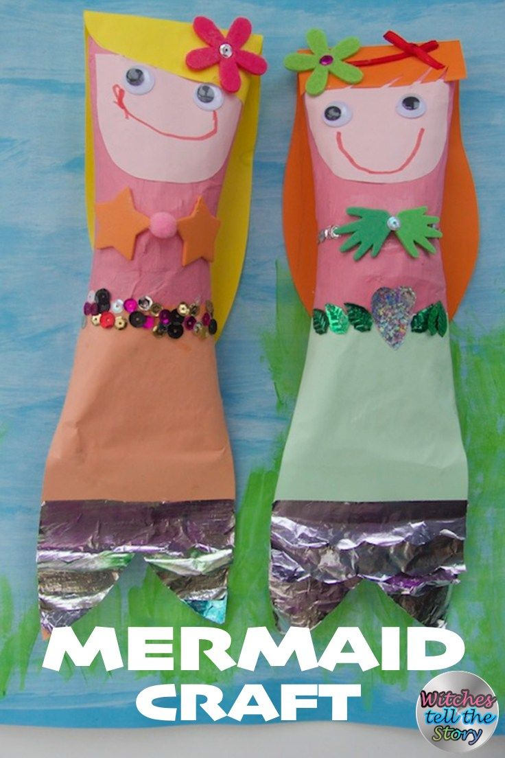 mermaid easy crafts for kids witches paper mache crafts and mermaid