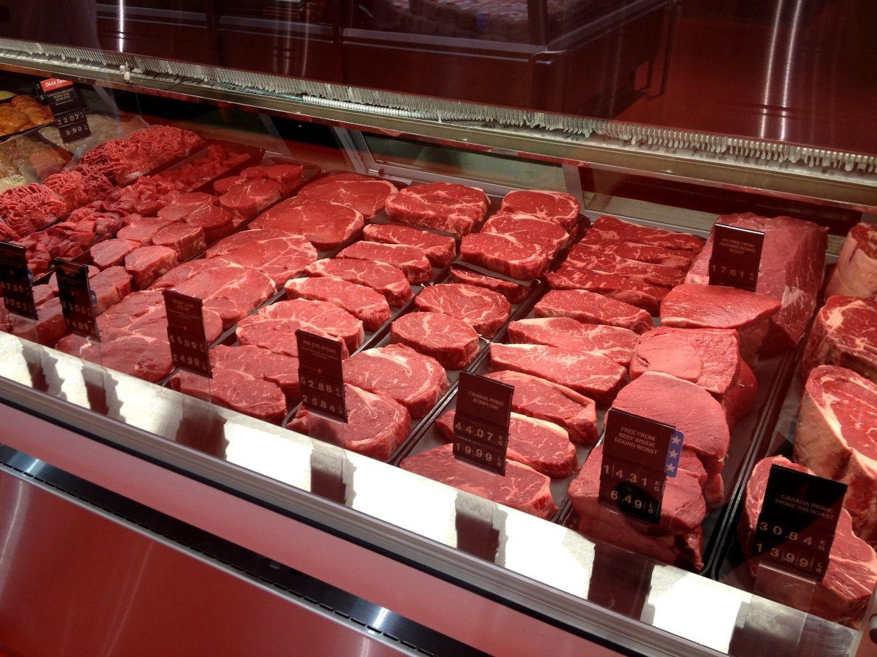 красивая выкладка мяса на витрине фото баннерную рекламу той