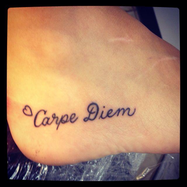 Carpe Diem Tattoo Tattoos Pinterest Letter Symbols Carpe Diem