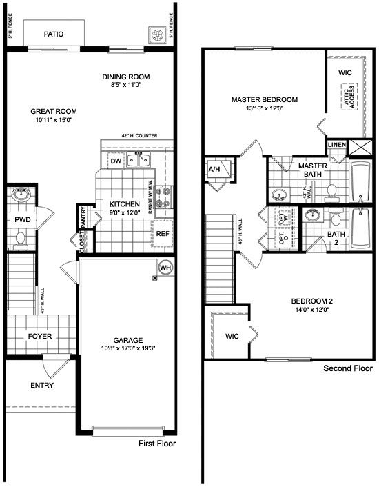 Martins Crossing Askew Floor Plan Townhouse Design