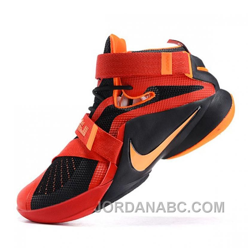 the latest b3518 2a79c Buy Nike LeBron James Soldiers 9 Orange Black Basketball Shoes from  Reliable Nike LeBron James Soldiers 9 Orange Black Basketball Shoes  suppliers.