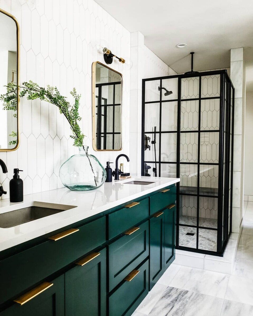 The Best Of Green Paint Colors Scout Nimble In 2020 Green Bathroom Bathroom Interior Design Unique Bathroom Tiles