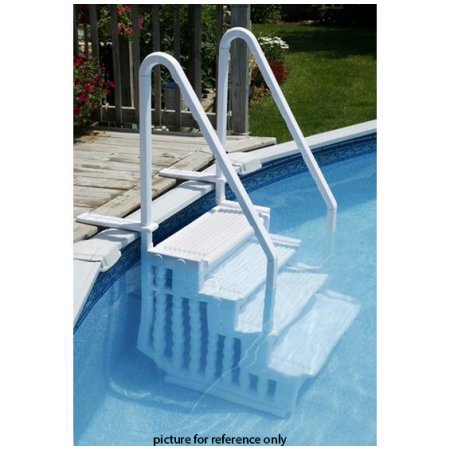 White Above Ground Swimming Pool Ladder Heavy Duty Step System With Handle Entry Non Slippery Walmart Pool Steps Swimming Pool Steps Above Ground Pool Steps