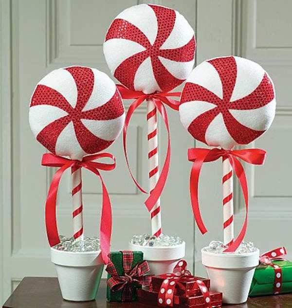 Lovely Large Candy Cane Decorations Outdoors For Top Christmas Ideas