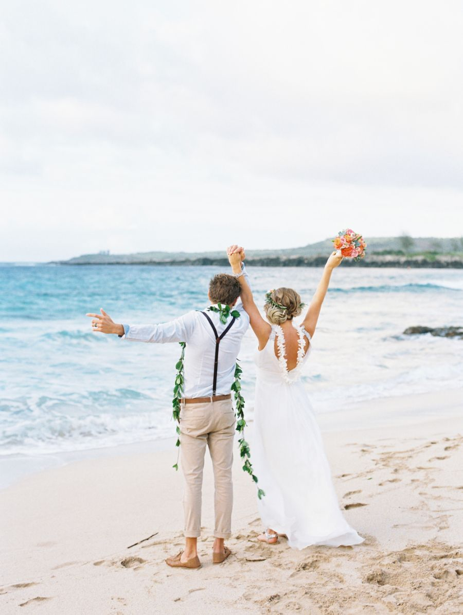 Living The Dream With A Hawaiian Beach Elopement Beach