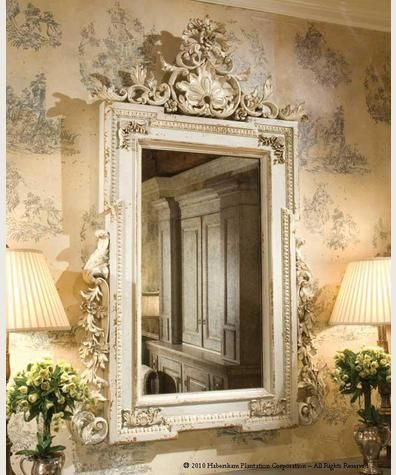 French mirror wall paper statement paper