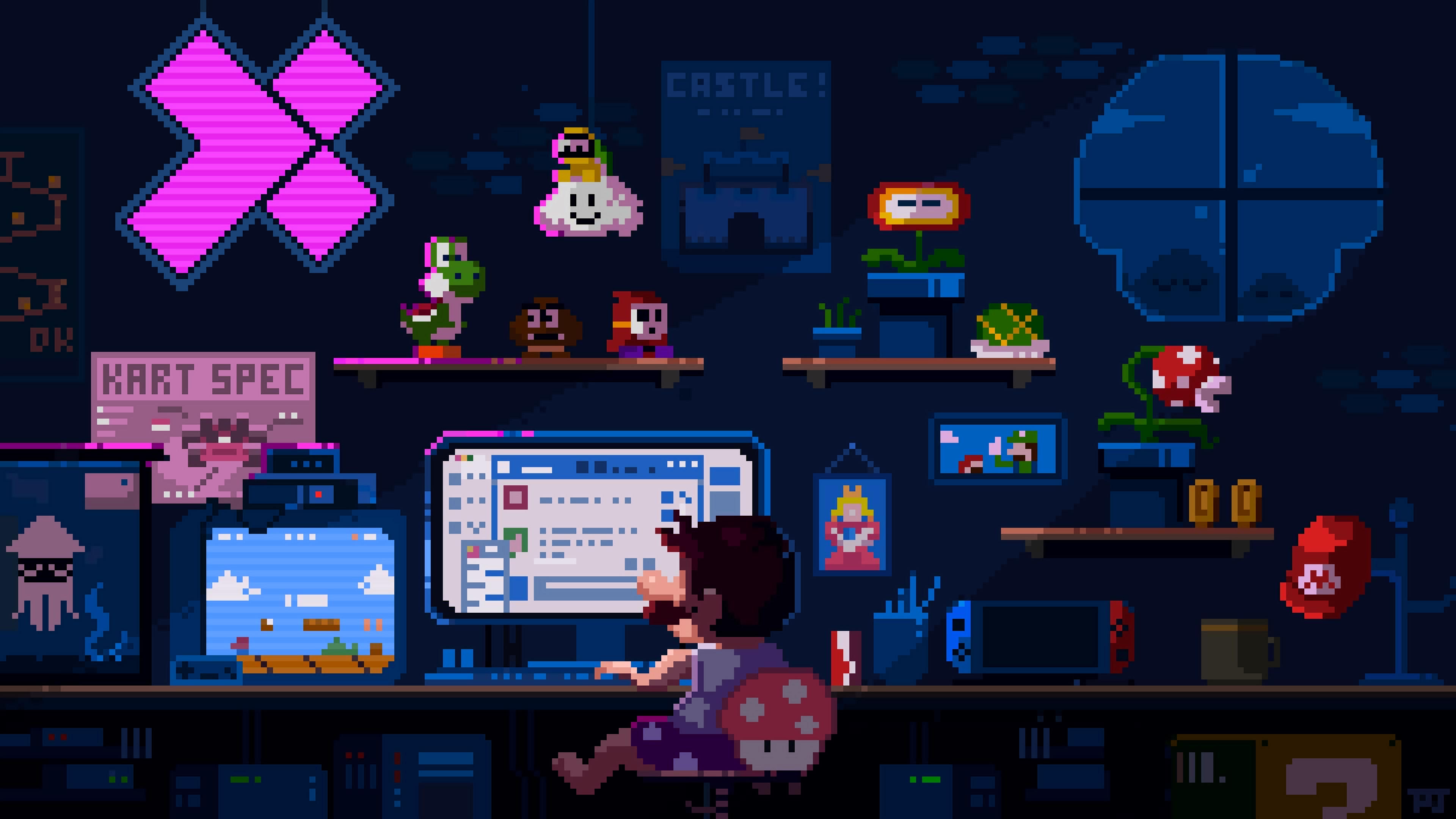 Mario's room [3840x2160] Desktop wallpaper, 4k desktop