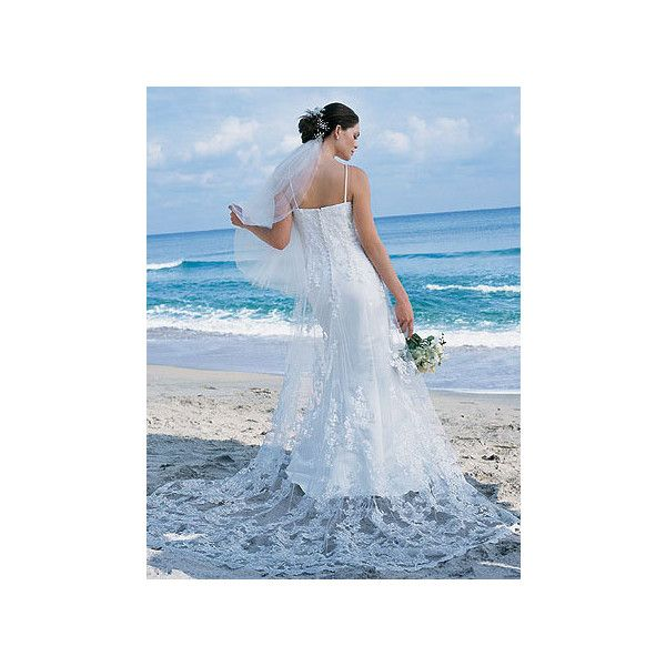 Beach Wedding Dress Dream Dress ❤ liked on Polyvore featuring people and wedding