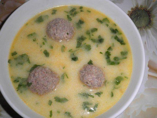 Фото к рецепту: Сырный суп с фрикадельками. | Сырный суп ...