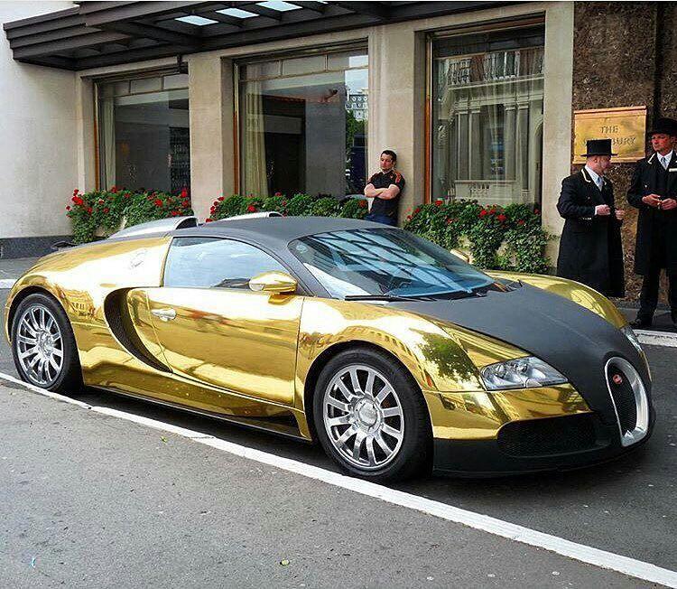 Golden Bugatti Gt Sport Pinterest Cars