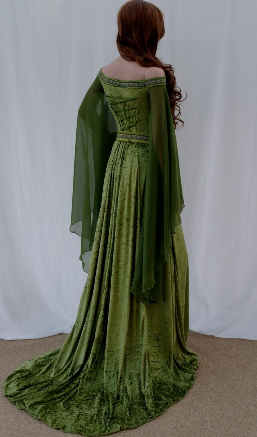Popular items for celtic wedding dress on etsy ireland for Celtic pagan wedding dresses