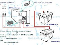 Inverter Ups Wiring Diagram For One Room Or Office Diagram Wire Office
