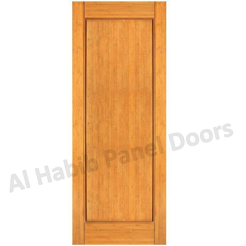 Solid single panel door hpd485 solid wood doors al for Single door design