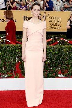 SAG Awards - Felicity Jones in a Balenciaga gown