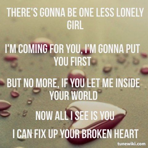 Lyricart For One Less Lonely Girl By Justin Bieber The Old Justin